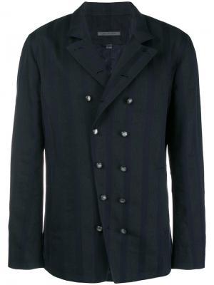 Double-breasted shirt jacket John Varvatos. Цвет: синий