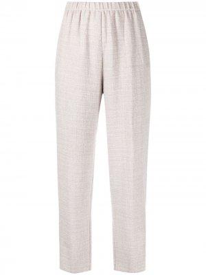 Укороченные брюки кроя слим Forte. Цвет: фиолетовый