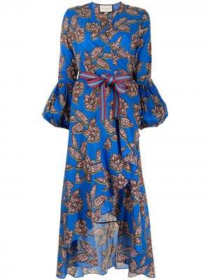 Платье Livana с принтом Alexis. Цвет: синий