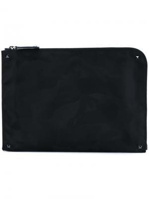 Сумка для ноутбука Rockstud Valentino. Цвет: чёрный