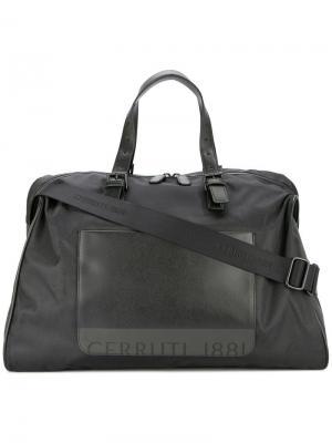 Дорожная сумка с передним карманом Cerruti 1881. Цвет: черный