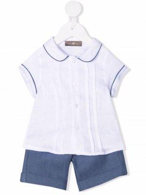 Костюм из шорт и футболки Little Bear. Цвет: белый