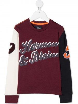 Футболка с длинными рукавами и логотипом Harmont & Blaine Junior. Цвет: красный