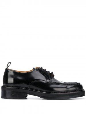 Туфли дерби с квадратным носком AMI Paris. Цвет: черный
