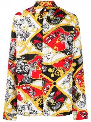 Рубашка с принтом Paisley Fantasy Versace Jeans Couture. Цвет: белый