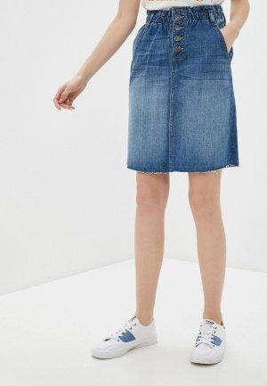 Юбка джинсовая BlendShe. Цвет: синий