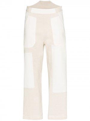 Укороченные брюки в технике пэчворк See by Chloé. Цвет: белый