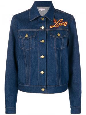Куртка I Do My Own Thing Olympia Le-Tan. Цвет: синий