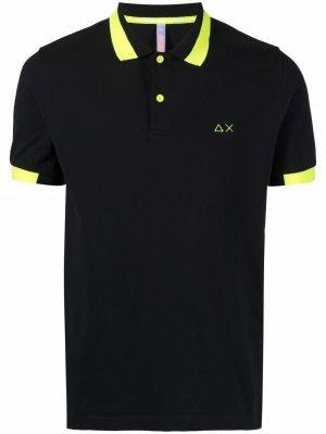 Рубашка поло с контрастной отделкой Sun 68. Цвет: черный