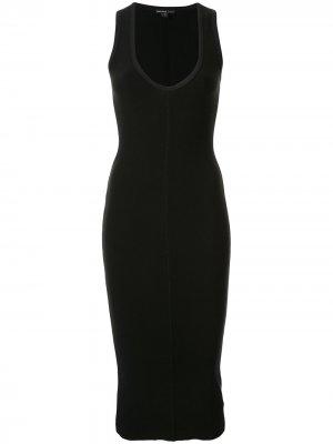 Приталенное платье без рукавов James Perse. Цвет: черный