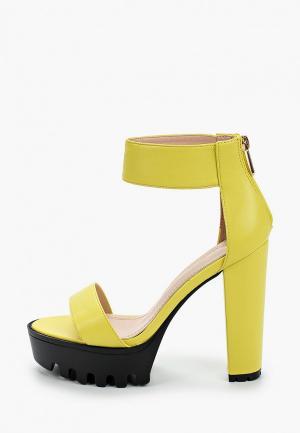 Босоножки Sergio Todzi. Цвет: желтый