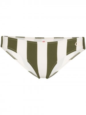 Плавки бикини Elle в полоску Solid & Striped. Цвет: желтый
