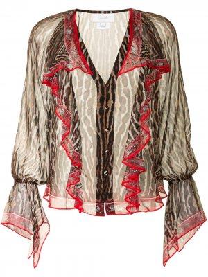 Блузка с принтом Pirate Punk Camilla. Цвет: коричневый