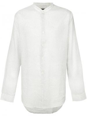 Рубашка с воротником-стойкой и мелким узором John Varvatos. Цвет: белый