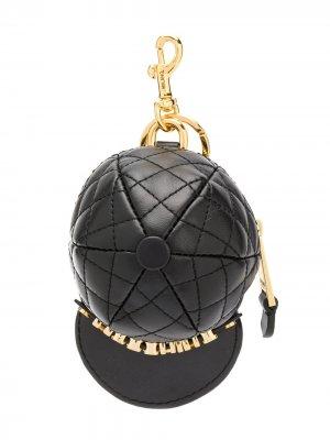 Брелок в форме бейсболки Moschino. Цвет: черный