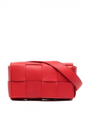 Поясная сумка  Belt Cassette Bottega Veneta. Цвет: красный