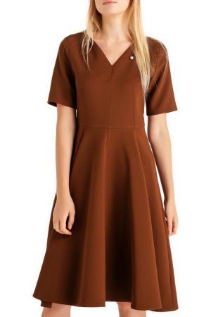 Платье BGN. Цвет: коричневый