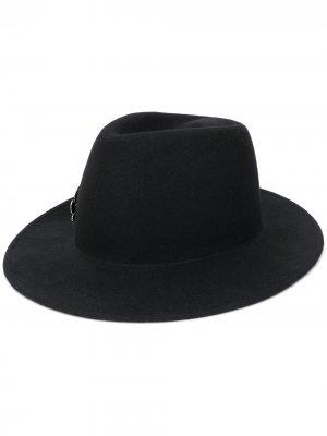 Декорированная шляпа Ann Demeulemeester. Цвет: черный