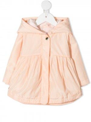 Плащ с капюшоном и складками Chloé Kids. Цвет: оранжевый