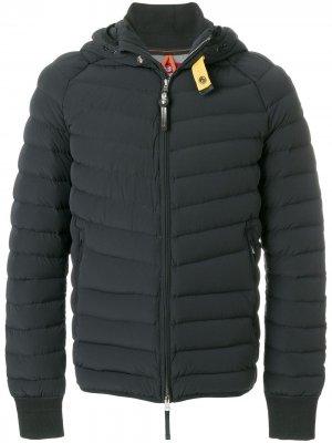 Пальто-пуховик с капюшоном Parajumpers. Цвет: черный