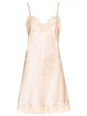 Ночная сорочка с кружевом Sainted Sisters. Цвет: нейтральные цвета