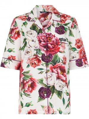 Пижама с принтом Dolce & Gabbana. Цвет: красный