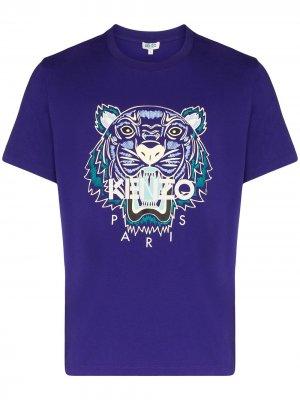 Футболка с логотипом Tiger Kenzo. Цвет: фиолетовый