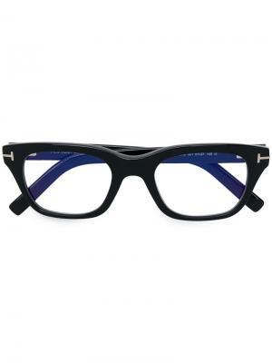 Blue control eyeglasses Tom Ford Eyewear. Цвет: черный