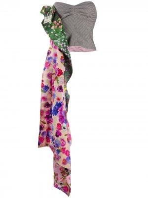 Декорированный топ-бюстье с драпировкой Natasha Zinko. Цвет: розовый