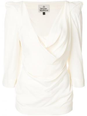 Блузка со структурированными плечами Vivienne Westwood. Цвет: нейтральные цвета