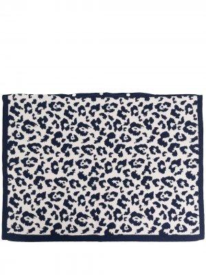 Наволочка с леопардовым принтом AMI AMALIA. Цвет: синий