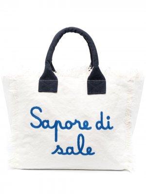 Пляжная сумка с надписью Mc2 Saint Barth. Цвет: нейтральные цвета