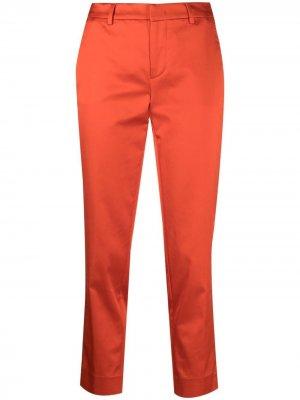 Укороченные брюки строгого кроя Pt01. Цвет: оранжевый