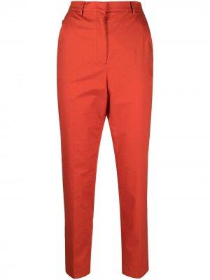 Узкие брюки строгого кроя Incotex. Цвет: оранжевый