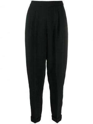 Зауженные брюки Delpozo. Цвет: черный