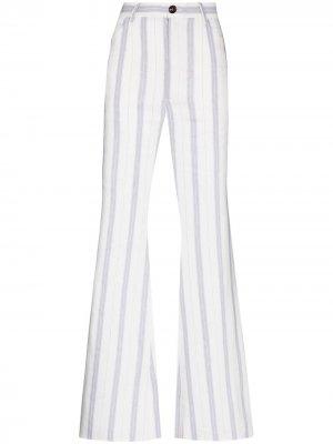 Расклешенные брюки с завышенной талией Natasha Zinko. Цвет: белый