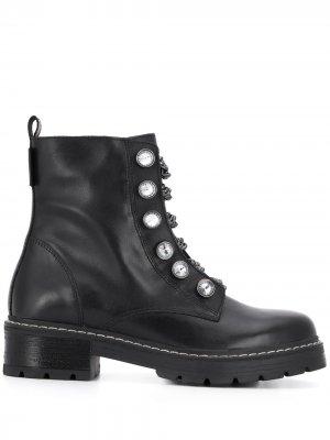Ботинки с цепочным декором Kurt Geiger London. Цвет: черный