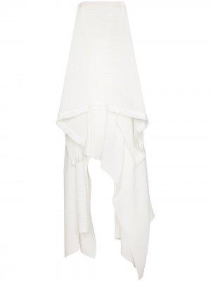 Многослойное платье Hester без бретелей Solace London. Цвет: белый
