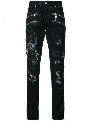 Gods Masterful Children джинсы кроя слим с рваными деталями God's. Цвет: синий