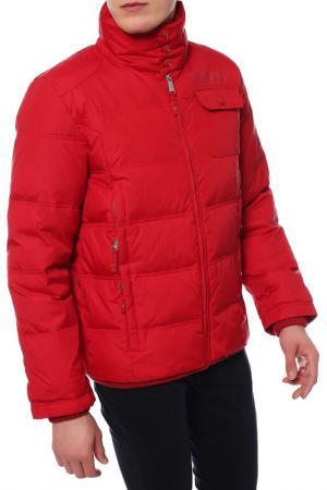 Куртка-пуховик ZU ELEMENTS. Цвет: красный