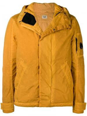 Resin-effect parka jacket CP Company. Цвет: оранжевый
