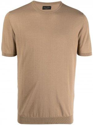 Трикотажная футболка с короткими рукавами Roberto Collina. Цвет: нейтральные цвета