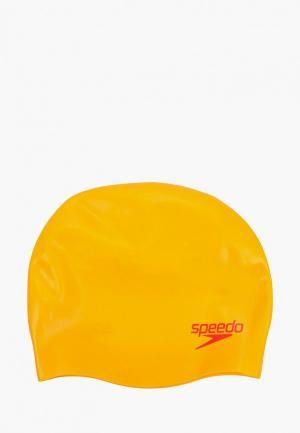 Шапочка для плавания Speedo. Цвет: оранжевый