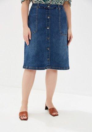 Юбка джинсовая Junarose. Цвет: синий