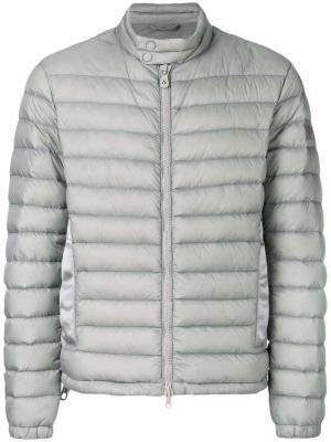 Дутая куртка с застежкой на молнии Peuterey. Цвет: серый