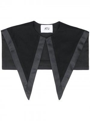 Воротник с атласными вставками Atu Body Couture. Цвет: черный