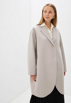 Пальто MM6 Maison Margiela. Цвет: серый