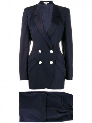 Костюм с брюками и двубортным пиджаком Natasha Zinko. Цвет: синий