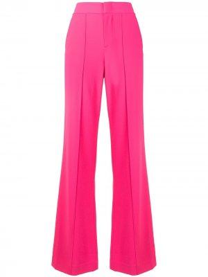 Расклешенные брюки с завышенной талией Alice+Olivia. Цвет: розовый