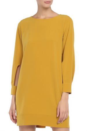 Платье Say. Цвет: горчичный